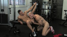 Sexy Muscled Guy Pleases Himself While A Hard Stick Punishes His Ass