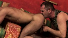 Horny daddy gives a beautiful twink the hard anal banging he deserves