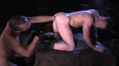 Horny Guy Loves To Use A Toy On A Stud's Ass And Give Him A Rimjob