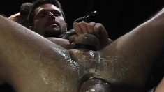 Black Stallion Has A Fist Stretching His Ass And Moans With Pleasure