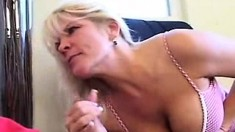 Blowjob And Titjob From Amateur Slut With Very Big Juggs