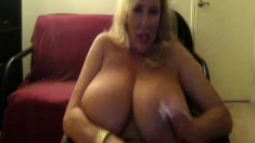 Sexy Blonde Milf With Big Boobs