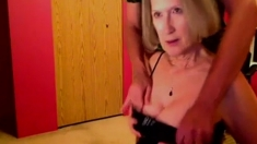 Amateur Blonde Granny Fucked By 2 Dudes