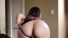 Hot Webcam Girl Masturbates In Kitchen With Dildo