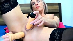 Loving Redheaded Sophie Lynx Handles Anal Toys In Solo